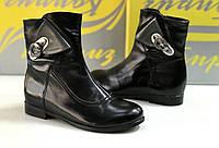 Детские демисезонные кожаные ботинки для девочек размеры 32,34