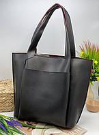 Женская сумка 108 черный с красным  Женские сумки купить недорого в Украине, фото 1