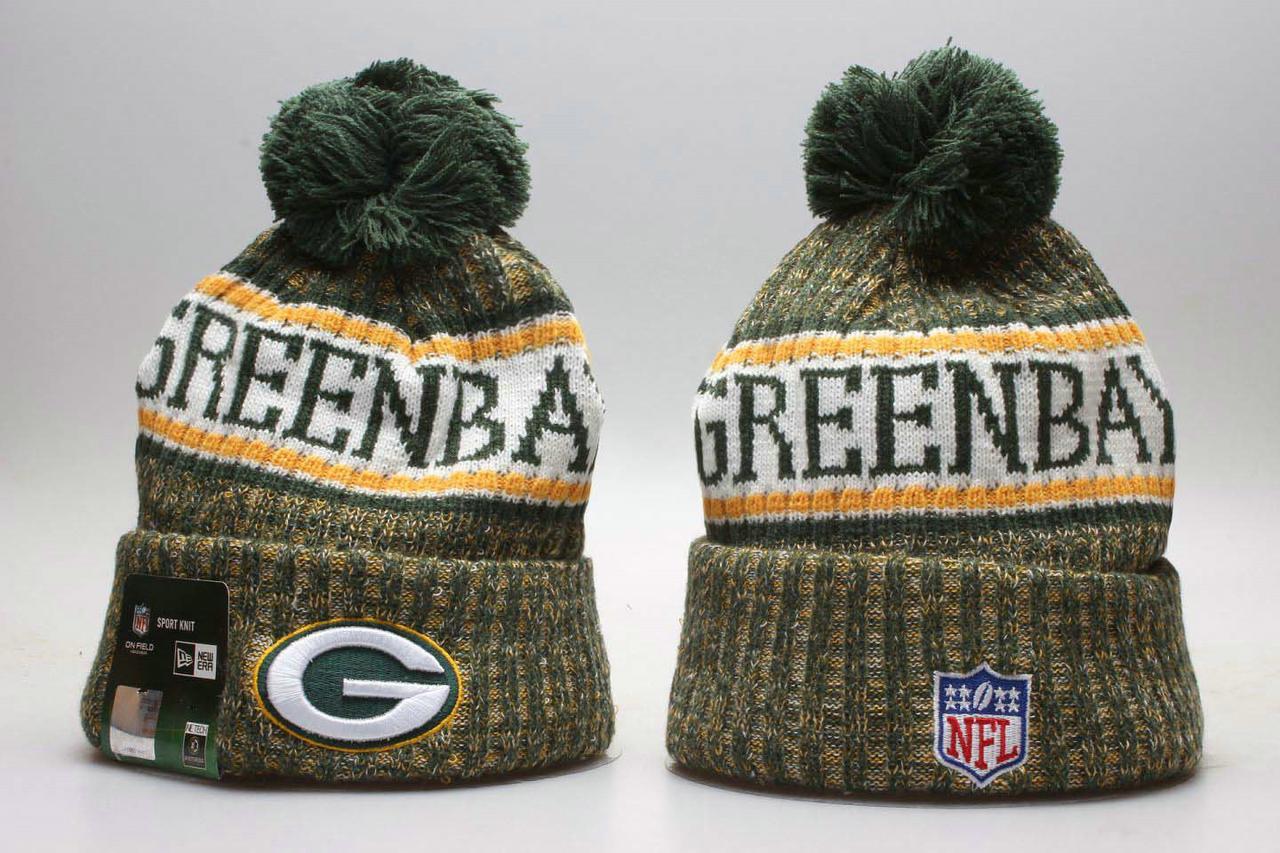 Шапка зимняя Green Bay Packers / SPK-083 (Реплика)