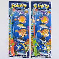 Рыбалка магнитная 2143 В 2 вида, 7 рыбок, на листе,