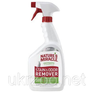 Спрей-устранитель Nature's Miracle «Stain & Odor Remover» для удаления пятен и запахов от кошек 946 мл  680396