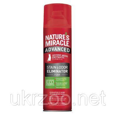 Устранитель-пена Nature's Miracle для удаления пятен и запахов от кошек с усиленной формулой 518 мл 680142