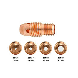 Корпус цанги Ø0.5х21мм 13N25 для Горелок TIG 9 - 20 - 25 упаковка 10 штук
