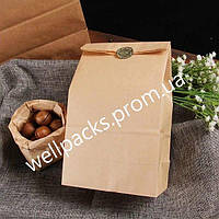 Бумажный пакет 260*150*350-50шт. без ручек бурый ЭКО