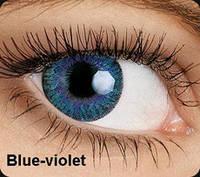 Голубые цветные контактные линзы OKVision Fusion Blue-Violet