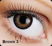 Коричневые цветные контактные линзы OKVision Fusion Brown 3