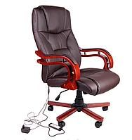 Кресло компьютерное массаж/подогрев Avko AP 02MH Brown массаж/подогрев