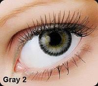 Серые цветные контактные линзы OKVision Fusion Gray 2