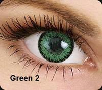 Зелёные цветные контактные линзы OKVision Fusion Green 2