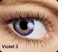 Фиолетовые цветные контактные линзы OKVision Fusion Violet 3