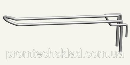 Крючок двойной на сетку 50х50 мм, длина - 150 мм