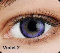 Фиолетовые цветные контактные линзы OKVision Fusion Violet 2