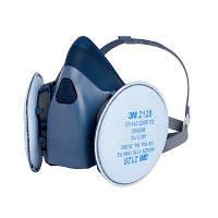 Полумаска респиратор 3М 7502+фильтры 3М 2128 комплект, фото 1