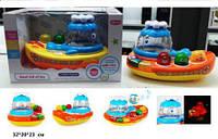 Детский музыкальный кораблик Кит. Развивающая игрушка для малышей