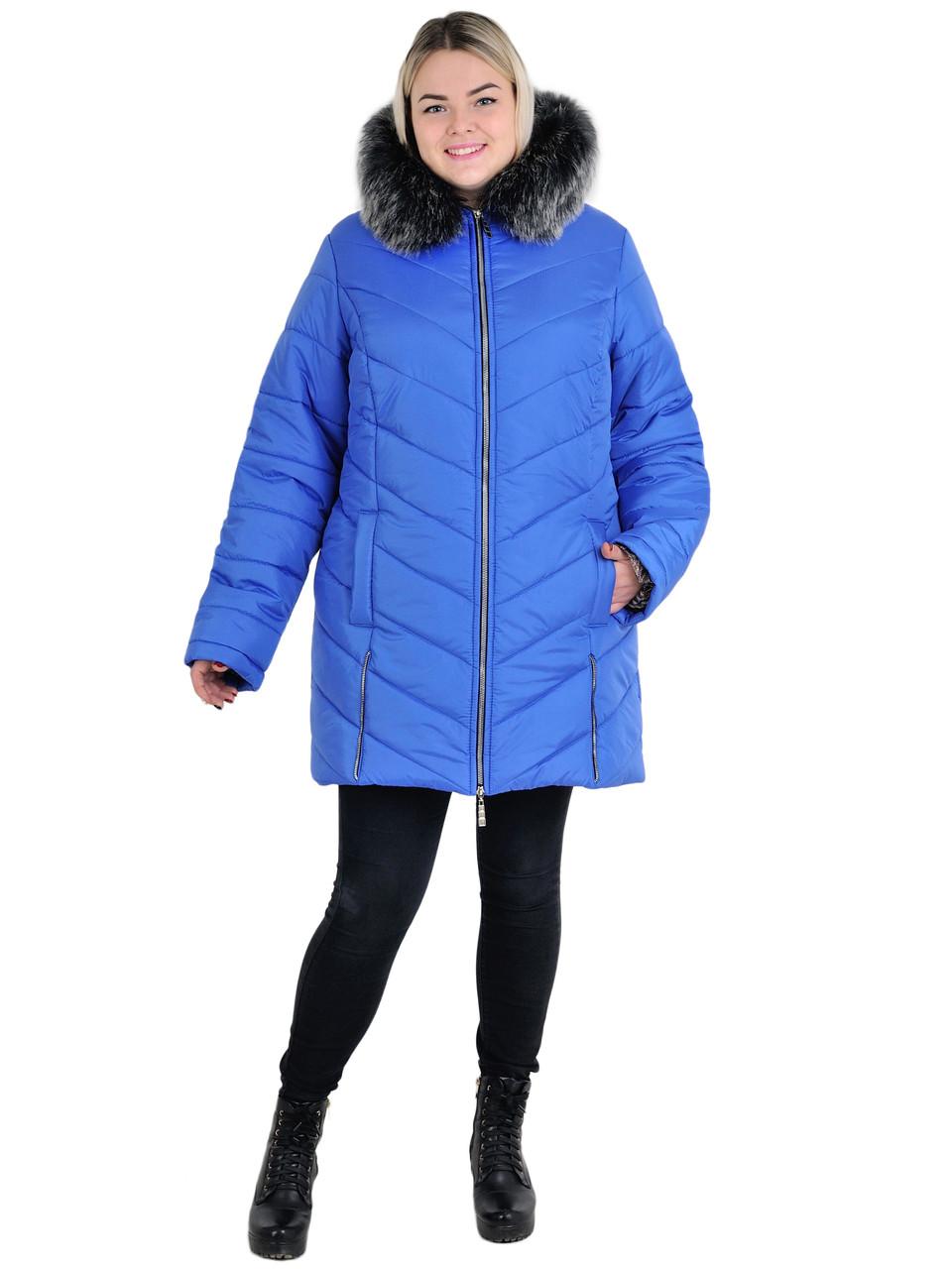 Куртка жіноча зимова подовжена модель Змійка, розміри від 54 до 68, різні кольори
