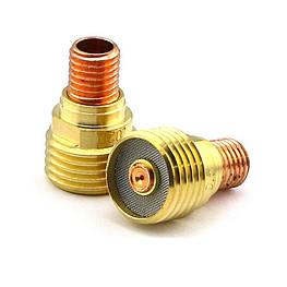 Корпус цанги с диффузором Ø1.6х22мм 45V43 для Горелок TIG 9 - 20 - 24 - 24W - 25 упаковка 10 штук