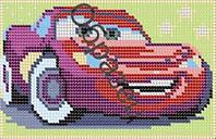 Схема для вышивки бисером «Машинка Молния МакКуин из мф Тачки»