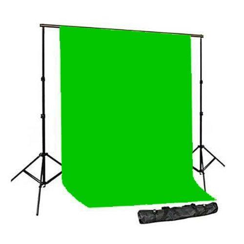"""КОМПЛЕКТ тканевый фон (1,8*2,7м) с держателем фона """"Ворота"""" Visico 2020HR цвет фона зеленый хромакей"""