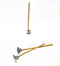 Фитиль для свечей вощеный 4 мм с металлическим держателем. Высота 10 см