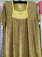 Женская леопардовая ночная рубашка