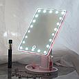 Дзеркало з LED підсвічуванням прямокутне 22 led, (Рожевий), фото 9