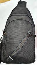 Мужские черные слинги, сумки через плечо на два кармана на змейке (в ассортименте)