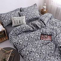 Комплект постельного белья Наша Швейка Бязь Серая Абстракция Семейный 2 х 150х215 см