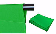 """КОМПЛЕКТ тканинний зелений фон """"Хромакей"""" (2х3м) з тримачем фону """"Ворота"""" GODOX 2030, фото 5"""