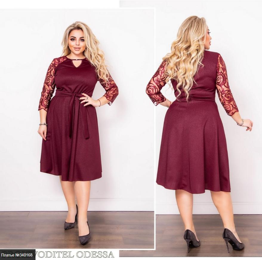 Комфортне плаття плюс сайз з капюшоном Мінова Розміри: 48-50, 52-54, 56-58