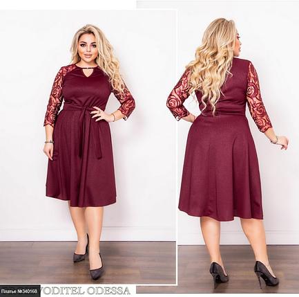 Комфортне плаття плюс сайз з капюшоном Мінова Розміри: 48-50, 52-54, 56-58, фото 2