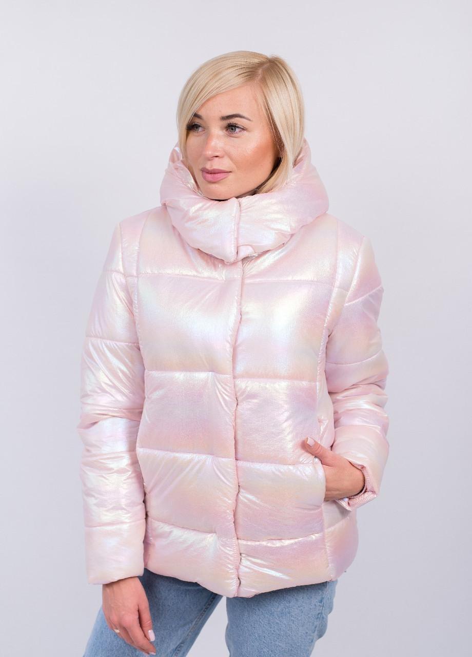 Красивая модная куртка Перламутр с 42 по 56 размер  Пудра