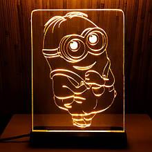 Акриловый светильник-ночник Миньон (Mignon) желтый tty-n000042