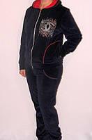Модный женский велюровый костюм Шанель , фото 1