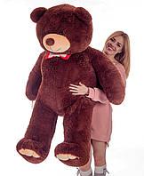 Бурый плюшевый мишка Мистер Медведь 160 см большая мягкая игрушка на день рождения