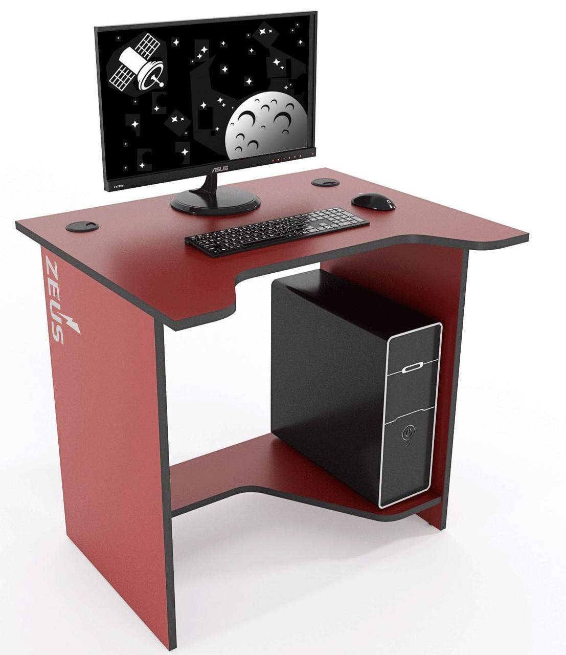 Стол геймерский  ZEUS™ Sputnik бордо-черный