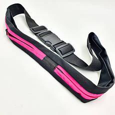 Спортивна сумка на пояс для бігу фітнесу телефону 2 кишені | поясна сумка для спорту