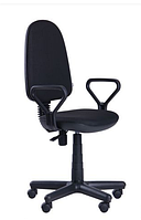 Зручне офісне комп'ютерне крісло на колесиках Комфорт Нью FS АМФ-1 А-01