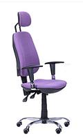 Зручне офісне комп'ютерне крісло на колесиках Регбі HR MF Chrome Квадро-76