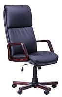 Зручне офісне комп'ютерне крісло на колесиках Техас Екстра вишня Неаполь N-20