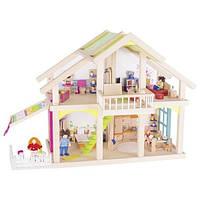 Кукольный домик Goki два этажа с внутренним двориком Susibelle (51588G)