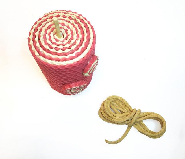Фитиль вощеный 4 мм для свечей из вощины