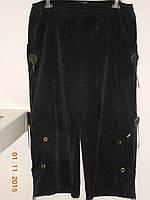 Вельветовые брюки с карманами батальные