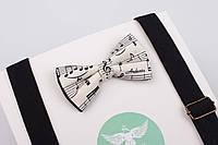 Детский набор с нотами и черными подтяжками, фото 1