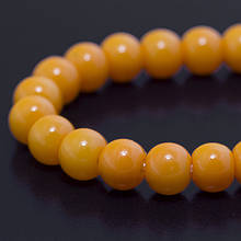Бусины Стекло Окрашенные экокраской, на шнуре из смесового хлопка, Круглые, Цвет: Оранжевый, Диаметр: 4мм, Отверстие 1мм, около 100шт/нить,
