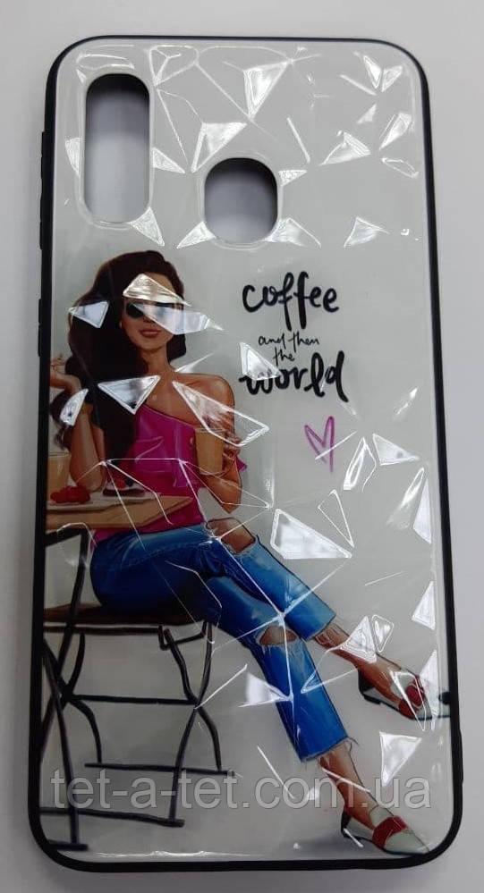 "Чехол-накладка для Samsung A40  ""Coffe"""