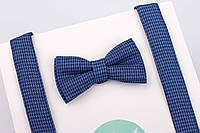 Детский твидовый набор синего цвета, фото 1