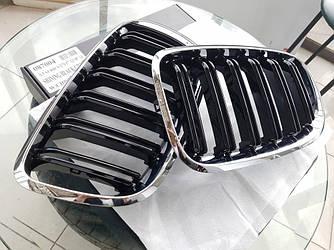 Решетка радиатора BMW X6 E71 ноздри стиль M ( хром рамка )