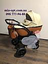 Детская коляска 2 в 1 Classik ( Классик) Victoria Gold эко кожа кор-беж, фото 2