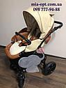 Детская коляска 2 в 1 Classik ( Классик) Victoria Gold эко кожа кор-беж, фото 3