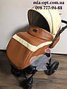 Детская коляска 2 в 1 Classik ( Классик) Victoria Gold эко кожа кор-беж, фото 4